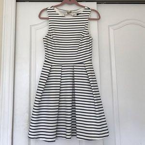 Striped open back dress